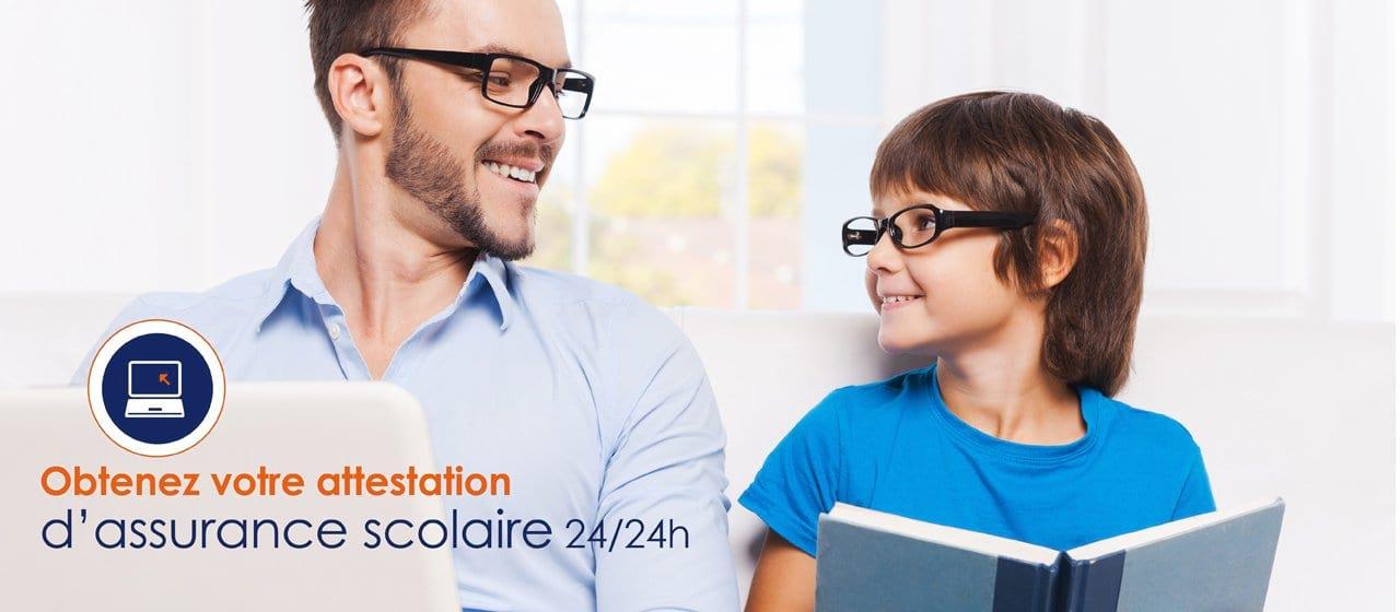 Assurance Scolaire Espace parents attestation